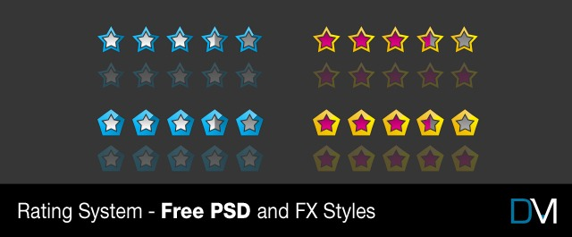 Rating System – Free PSD and FX Styles