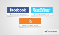 Social Buttons Free PSD