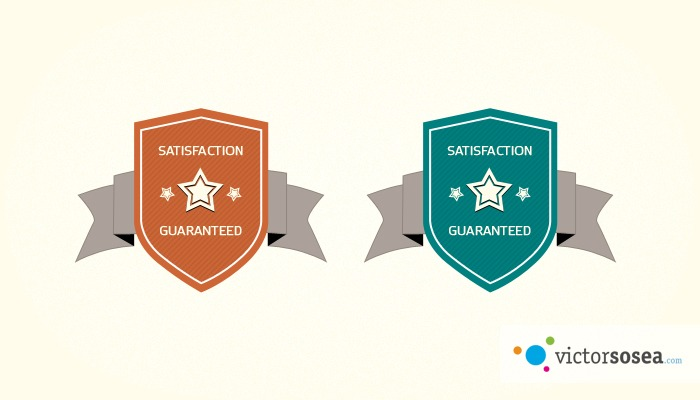 Simple Badges Free PSD