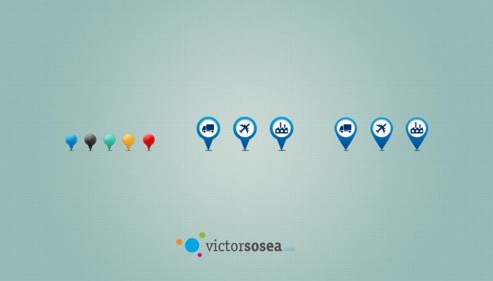 Map Pins Free PSD