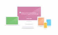 Flat Showcase Presentation Free PSD