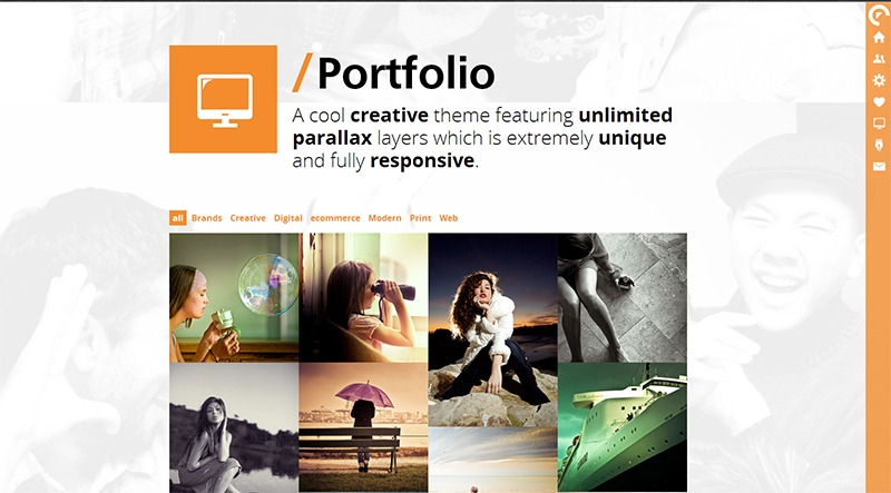 LIVE One Page Scrolling Parallax WordPress Theme